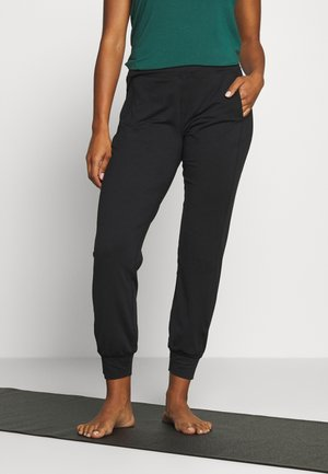 GARUDASANA YOGA TROUSERS - Trainingsbroek - black