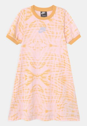 Jersey dress - bucktan/purple chalk