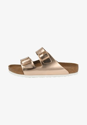 Slippers - metallic copper