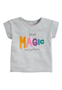 Next - STRIPE MAGIC BOUCLé T-SHIRT (3MTHS-7YRS) - Print T-shirt - blue - 0