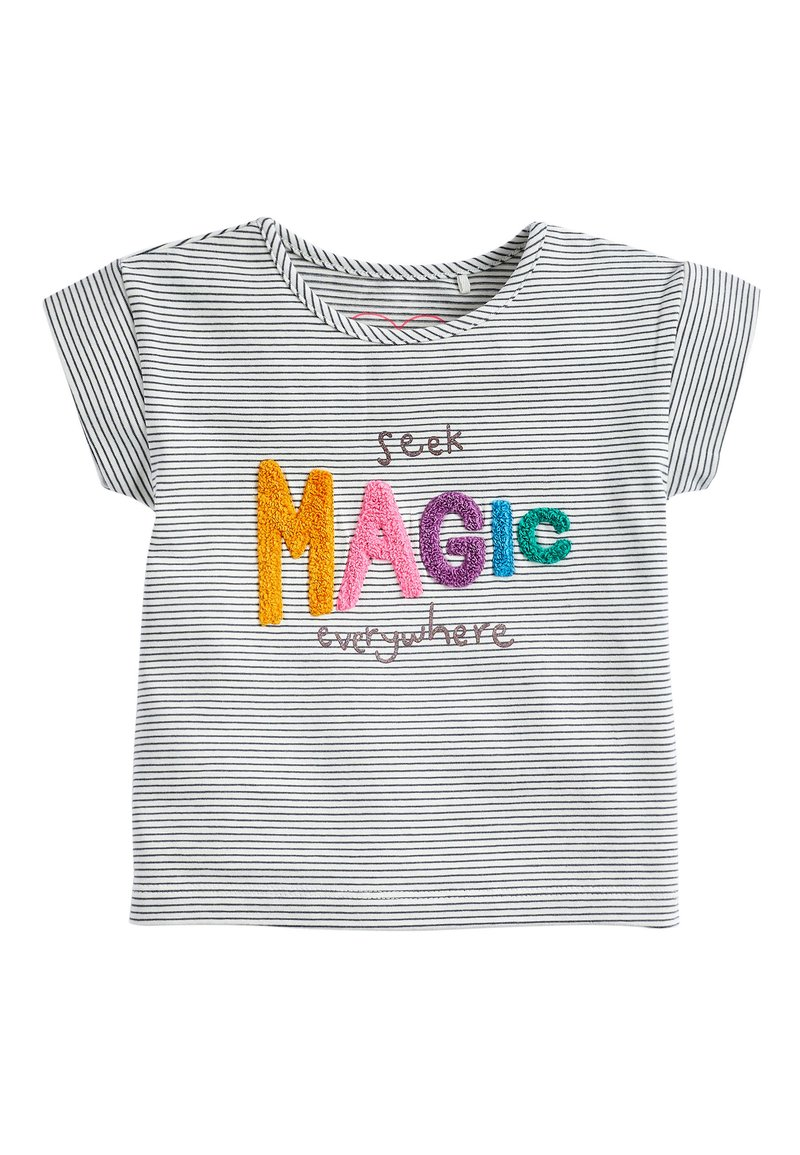 Next - STRIPE MAGIC BOUCLé T-SHIRT (3MTHS-7YRS) - Print T-shirt - blue
