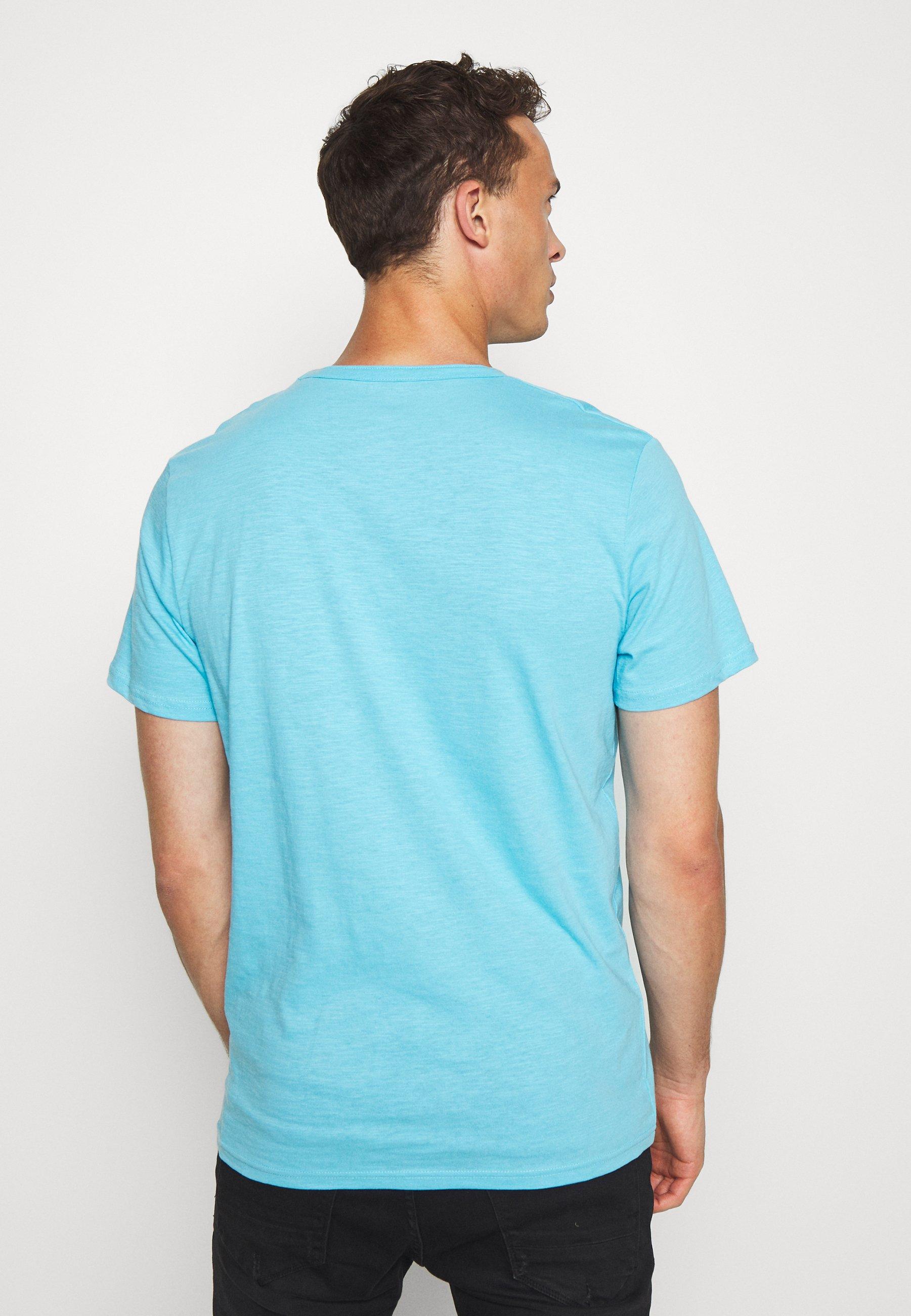 TOM TAILOR Print T-shirt - crystal sea blue CFPYx