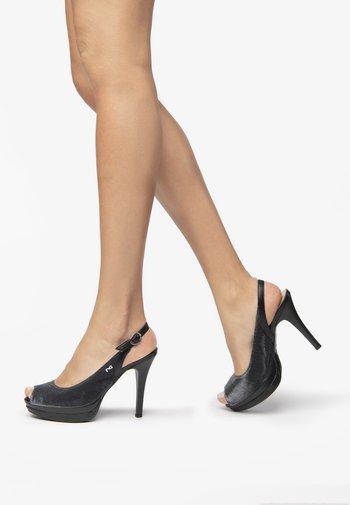 Peeptoe heels - nero