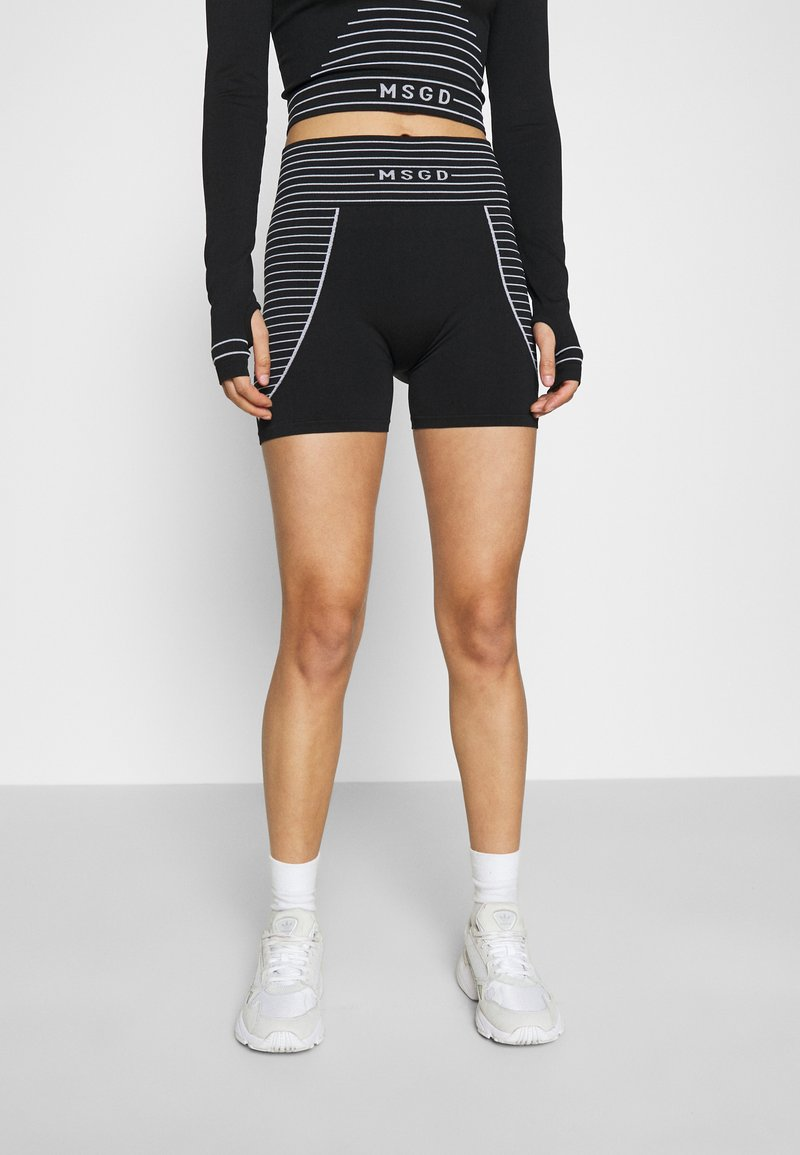 Missguided - SEAMLESS BOOTY - Shorts - black