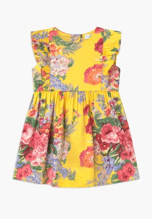 FLORAL - Shirt dress - yellow