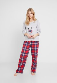 Dorothy Perkins - BAH HUM CHECK SET - Pyjamas - light grey - 1