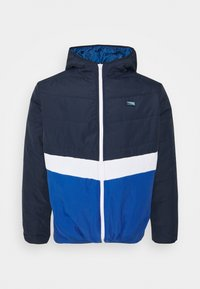 Jack & Jones - JCOMAGIC TWIST QUILTED JACKET HOOD - Summer jacket - navy blazer - 0