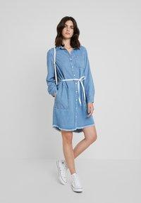 Marc O'Polo DENIM - DRESS COLLAR - Denim dress - melted indigo tencel - 1