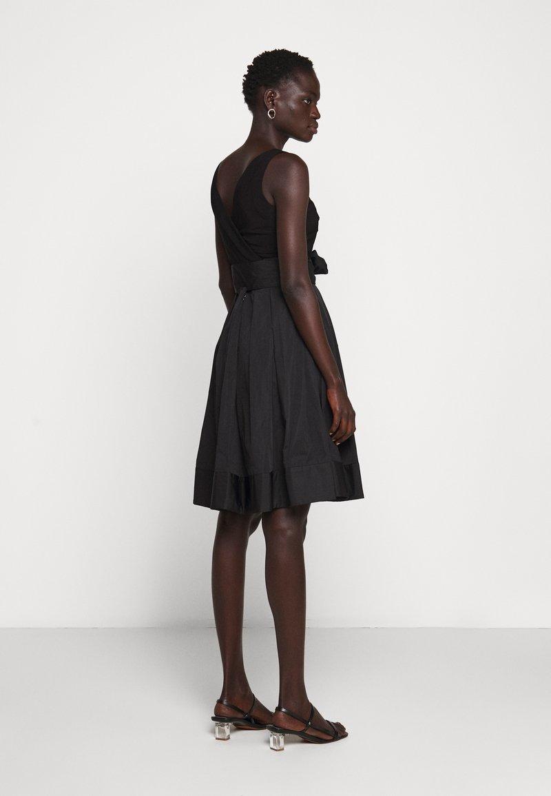 Lauren Ralph Lauren Memory Dress Combo Cocktailkleid Festliches Kleid Black Schwarz Zalando De
