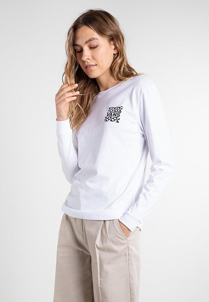 Vans - GOOD HANGS - Long sleeved top - white