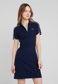 Lacoste Sport - GOLFDRESS - Jerseyklänning - navy blue - 0
