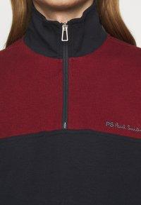 PS Paul Smith - HALF ZIP - Felpa - dark blue/red - 5