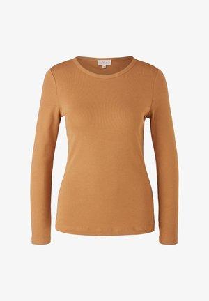 Long sleeved top - caramel
