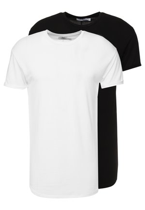 SCOTTY 2 PACK - Basic T-shirt - black/white