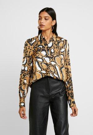 LORI - Button-down blouse - brown