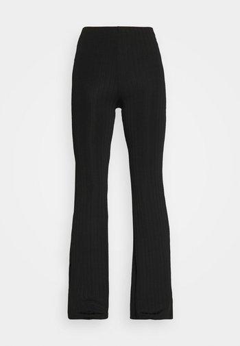 CASMIN FLARES - Kalhoty - black