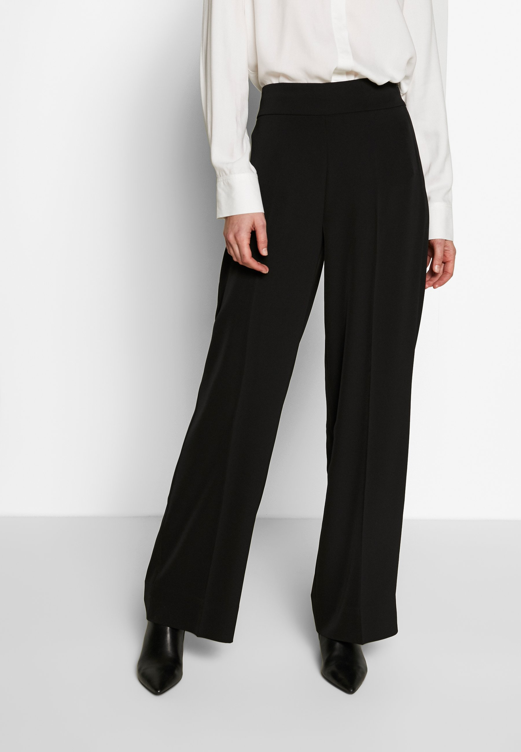 Nly by Nelly DETAILED WIDE PANTS Bukse blacksvart