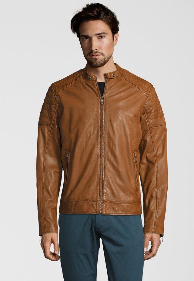 IOWA - Leather jacket - cognac