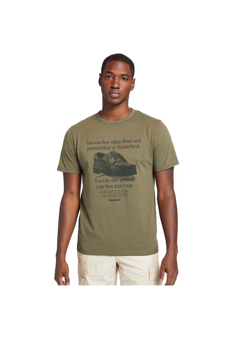 Timberland - Print T-shirt - grape leaf