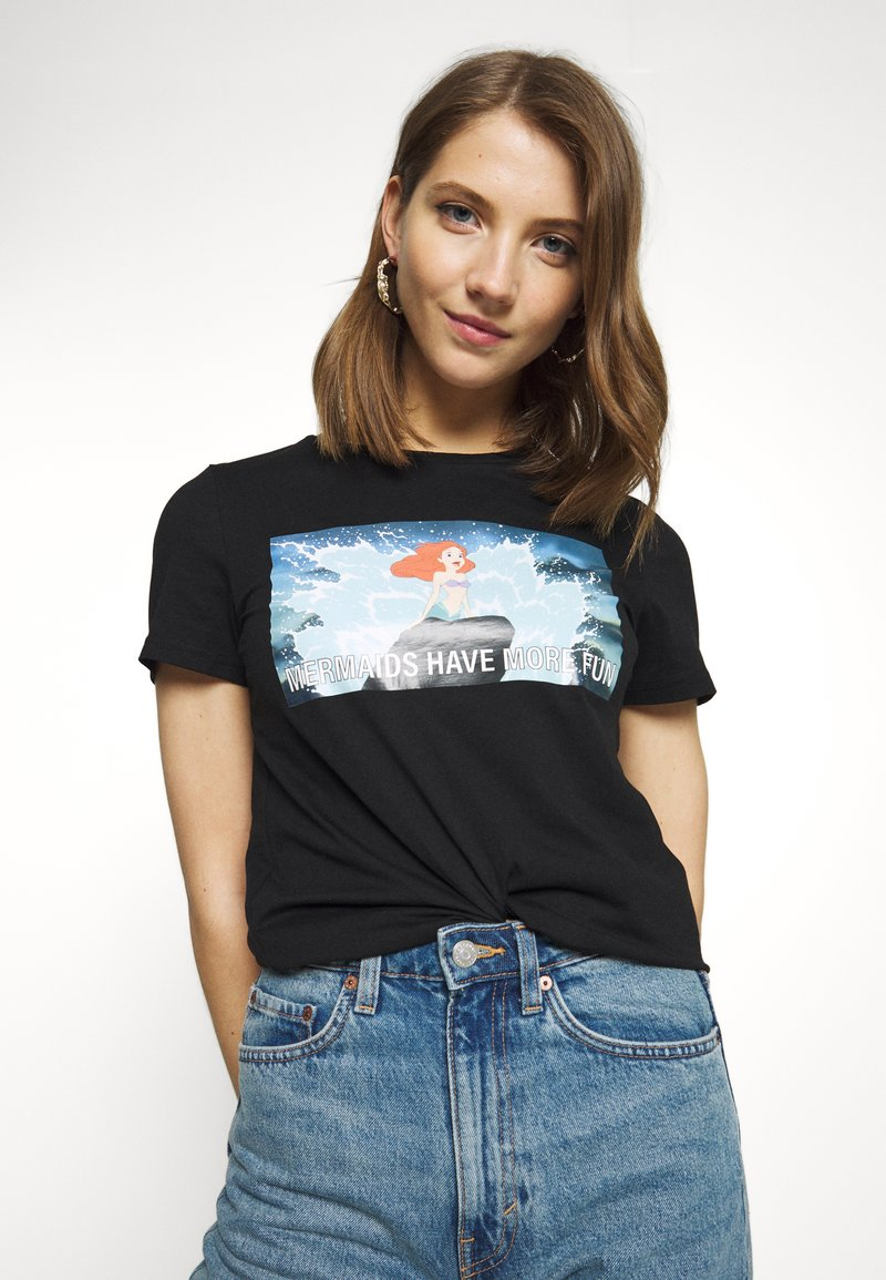 ONLY - ONLDISNEY LIFE REG BOX - Print T-shirt - black