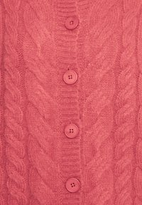 Who What Wear - CABLE CARDIGAN - Cardigan - coral - 2