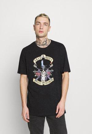 ONSGUNS AND ROSES LIFE - Print T-shirt - black