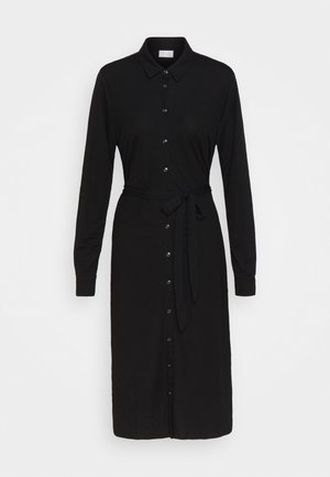 VISAFINA MIDI DRESS - Skjortekjole - black