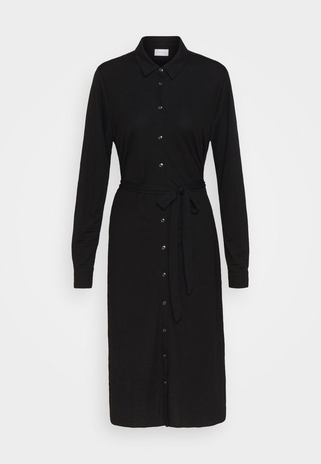 VISAFINA MIDI DRESS - Shirt dress - black