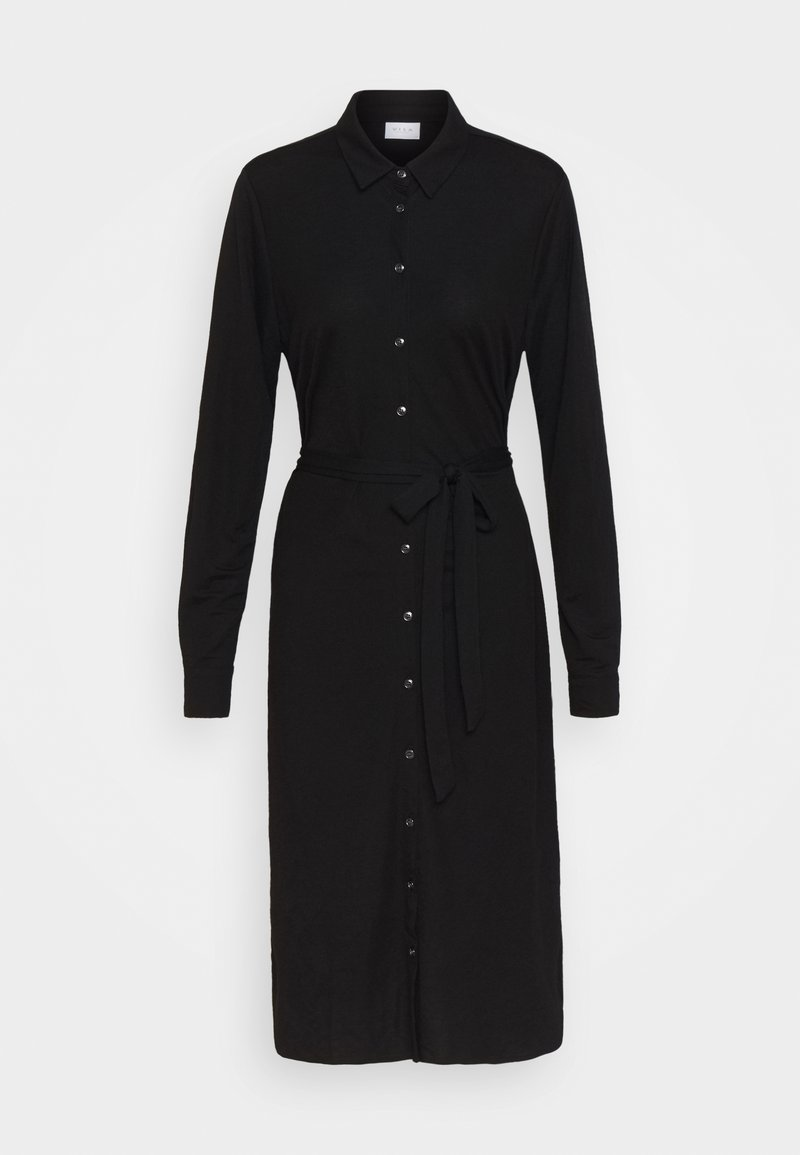 Vila - VISAFINA MIDI DRESS - Shirt dress - black