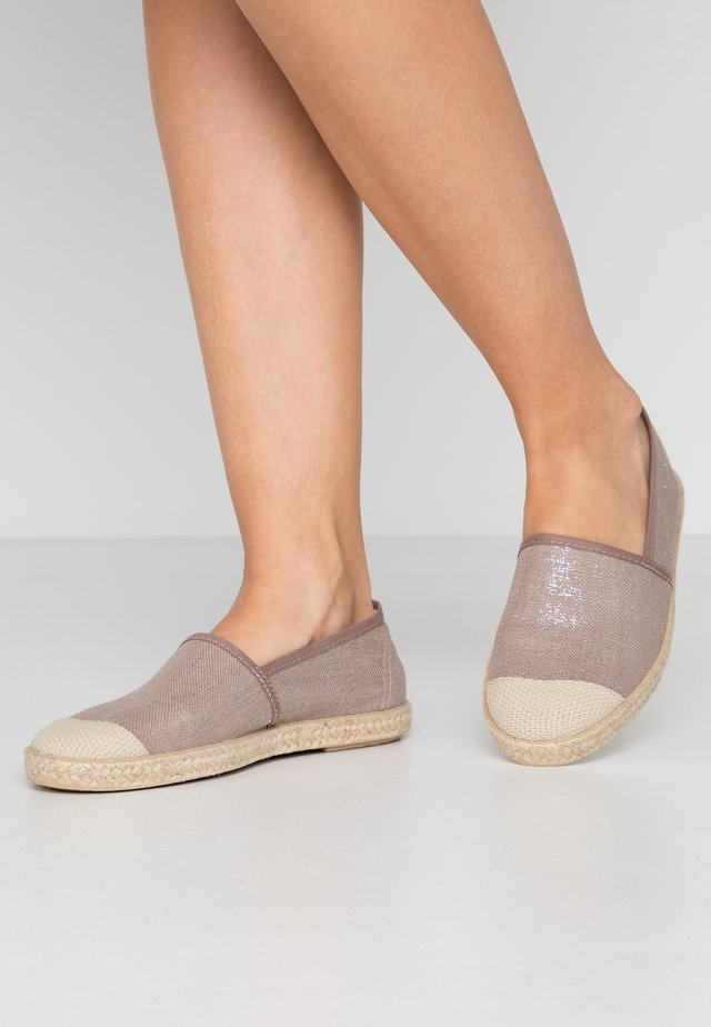 EVITA PLAIN - Espadrillot - metallic rose