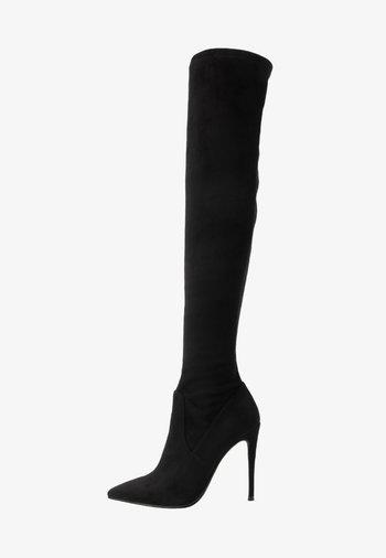 DADE - Kozačky na vysokém podpatku - black