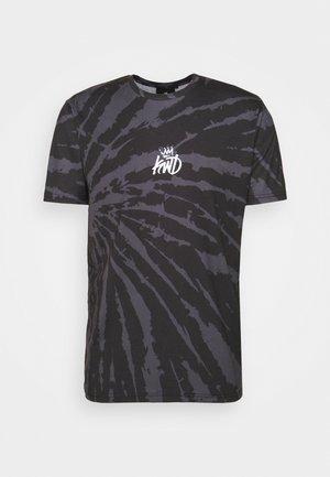 AVALON TIE DYE TEE - Print T-shirt - light grey/mid grey
