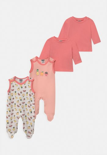 GIRLS 2 PACK - Pyjama set - light pink/white