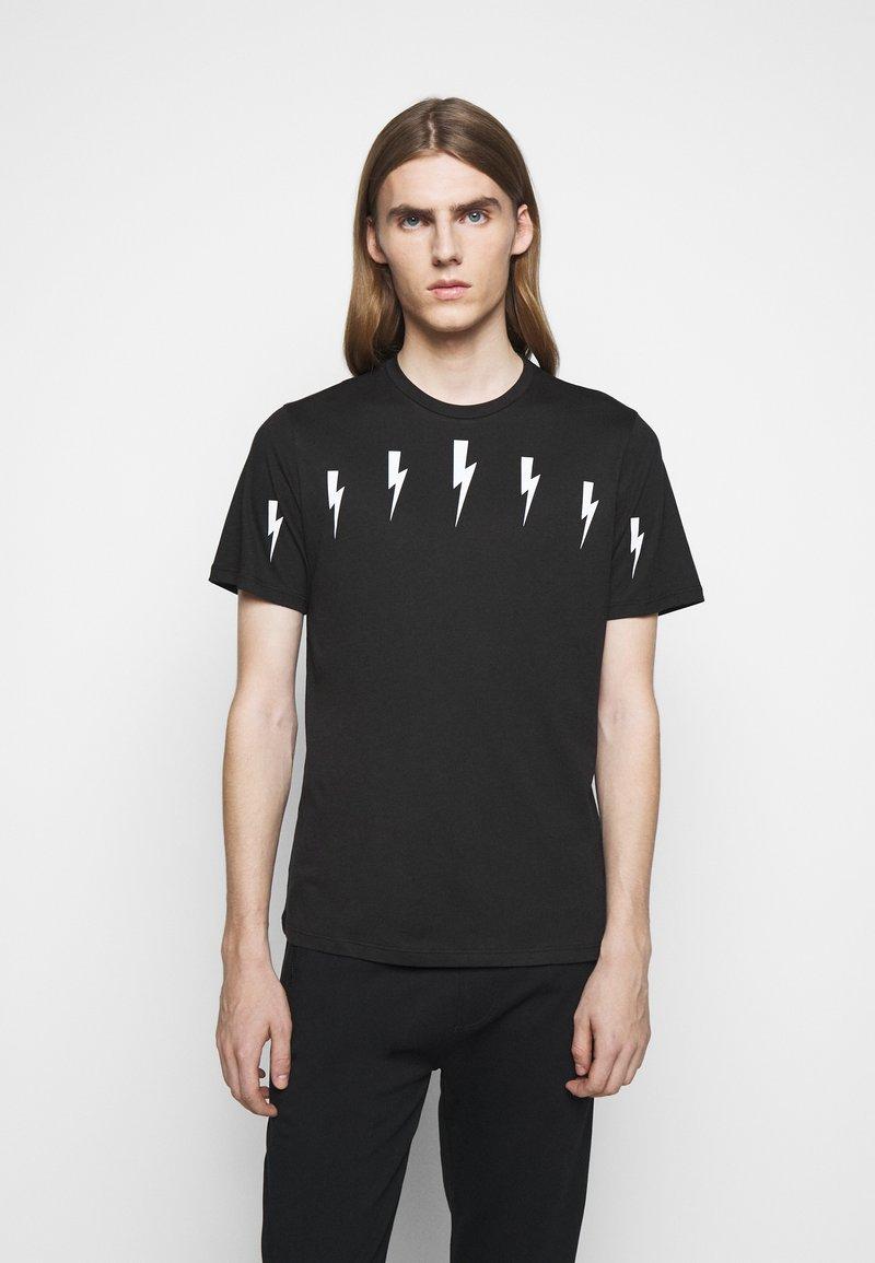 Neil Barrett - HALO BOLTS - T-shirts med print - black/white