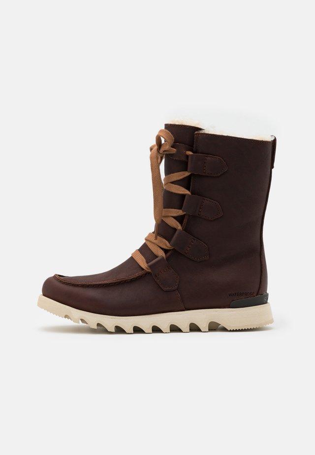 KEZAR STORM WP - Lace-up ankle boots - burro