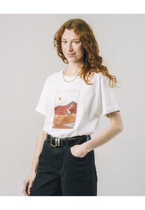 GOBI - T-shirt med print - white