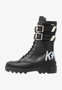 KARL LAGERFELD - TREKKA CUFF BUCKLE - Lace-up boots - black - 1