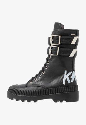 TREKKA CUFF BUCKLE - Snørestøvler - black