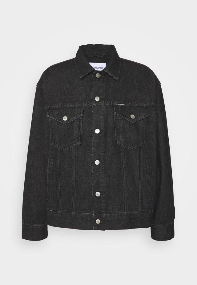 DAD JACKET - Džínová bunda - denim black