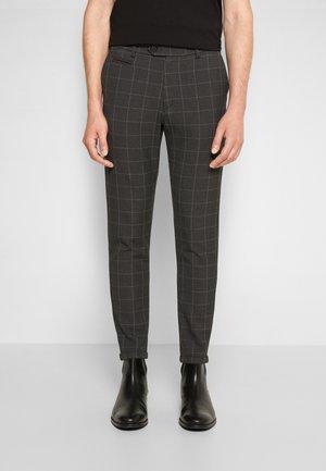 COMO REG CHECK SUIT PANTS - Kalhoty - antrazit