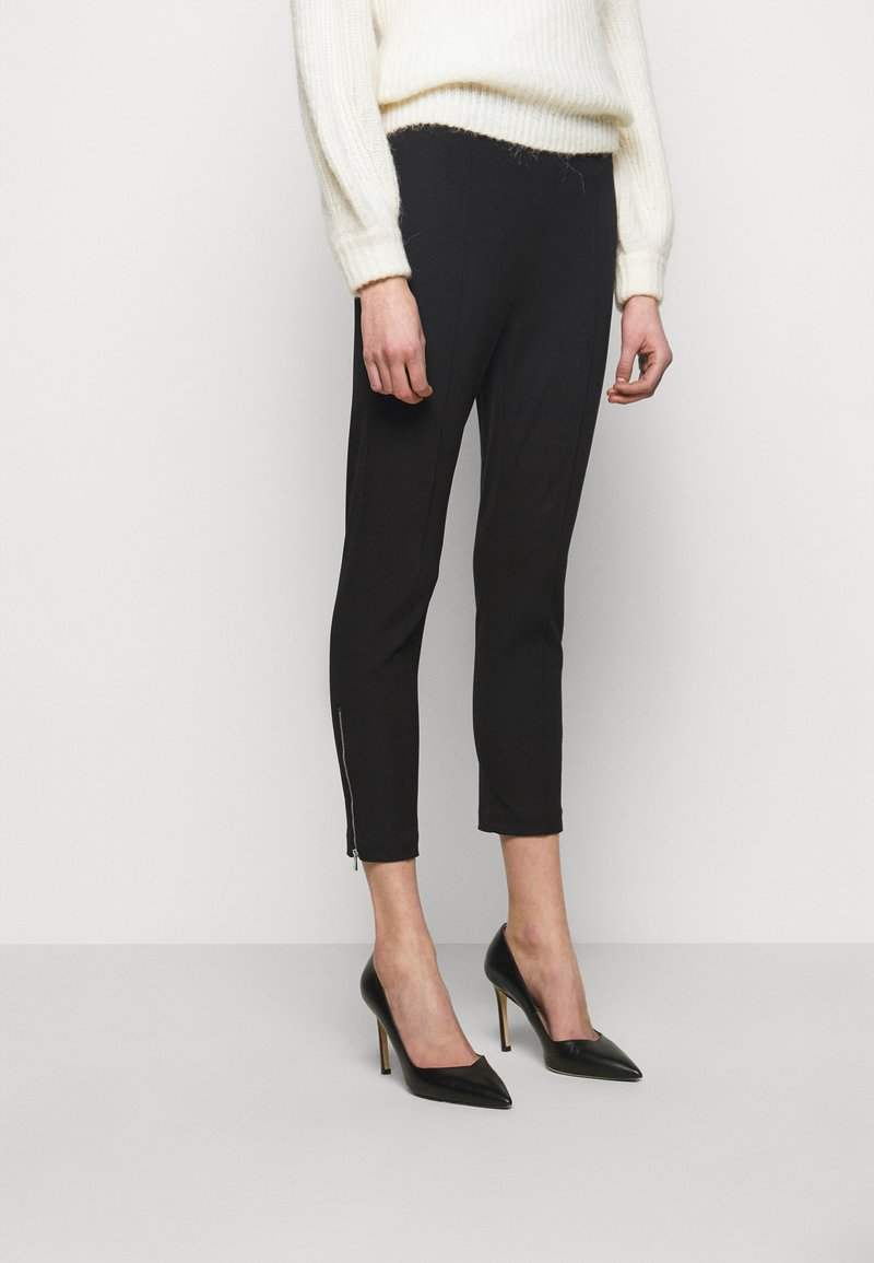 MICHAEL Michael Kors - ZIP FITTED CROP - Trousers - black