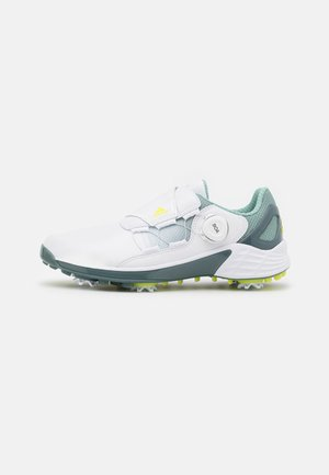 W ZG 21 BOA - Golf shoes - footwear white/acid yellow/haze green