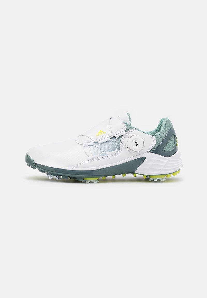 adidas Golf - W ZG 21 BOA - Golfové boty - footwear white/acid yellow/haze green