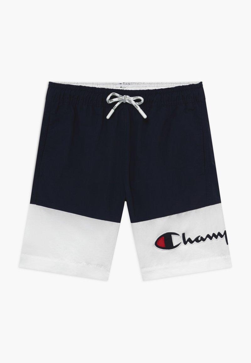 Champion - Swimming shorts - white/dark blue