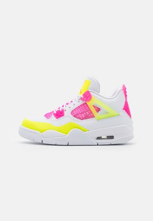 AIR EDGE GLOW UNISEX - Basketbalové boty - white/light pink/yellow