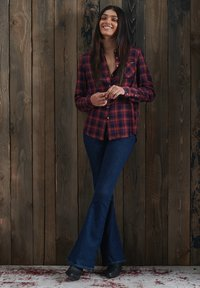 Superdry - Button-down blouse - navy rust check - 0