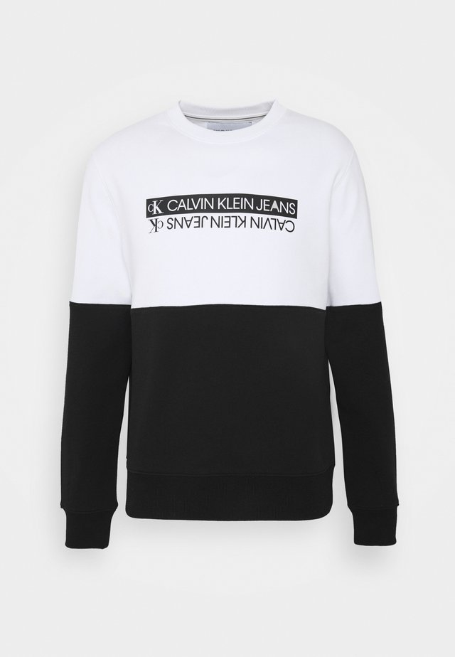 MIRRORED LOGO COLORBLOCK UNISEX - Sweatshirts - black/bright white
