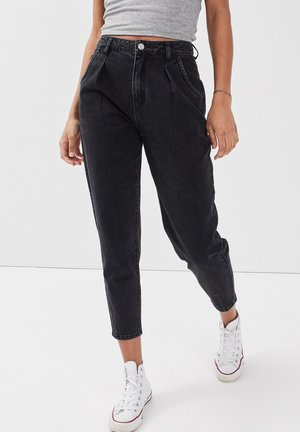 MIT ABNÄHERN - Slim fit jeans - denim noir