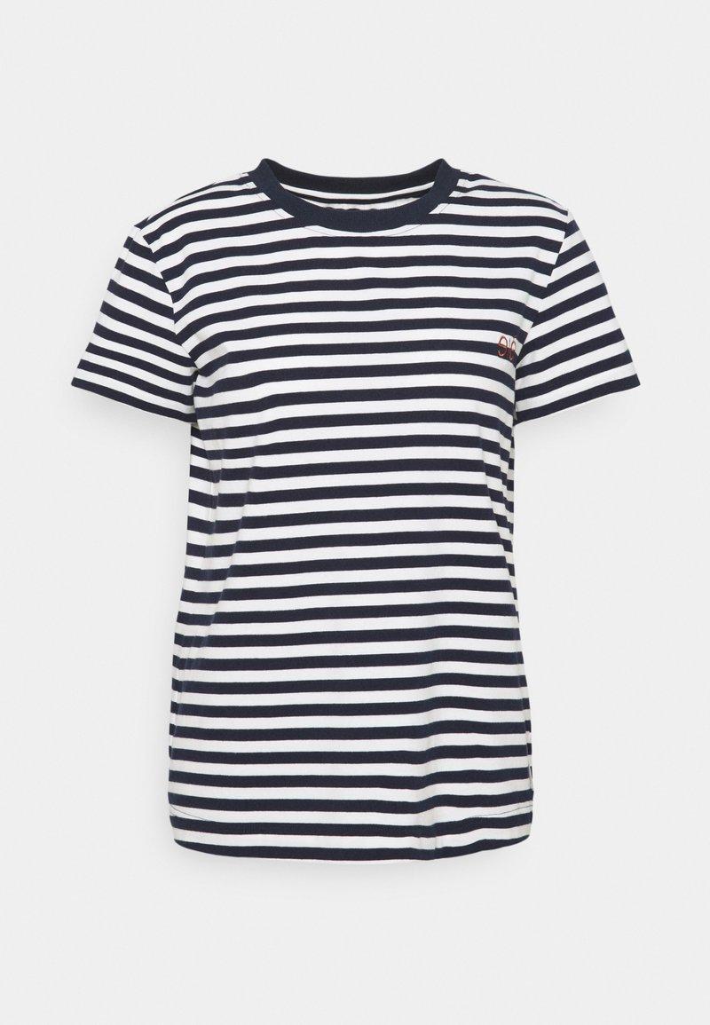 esmé studios - FIONA O NECK - Print T-shirt - dark sapphire