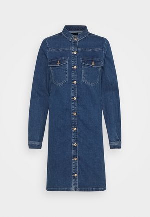 PCPERRY  DRESS - Denim dress - medium blue denim